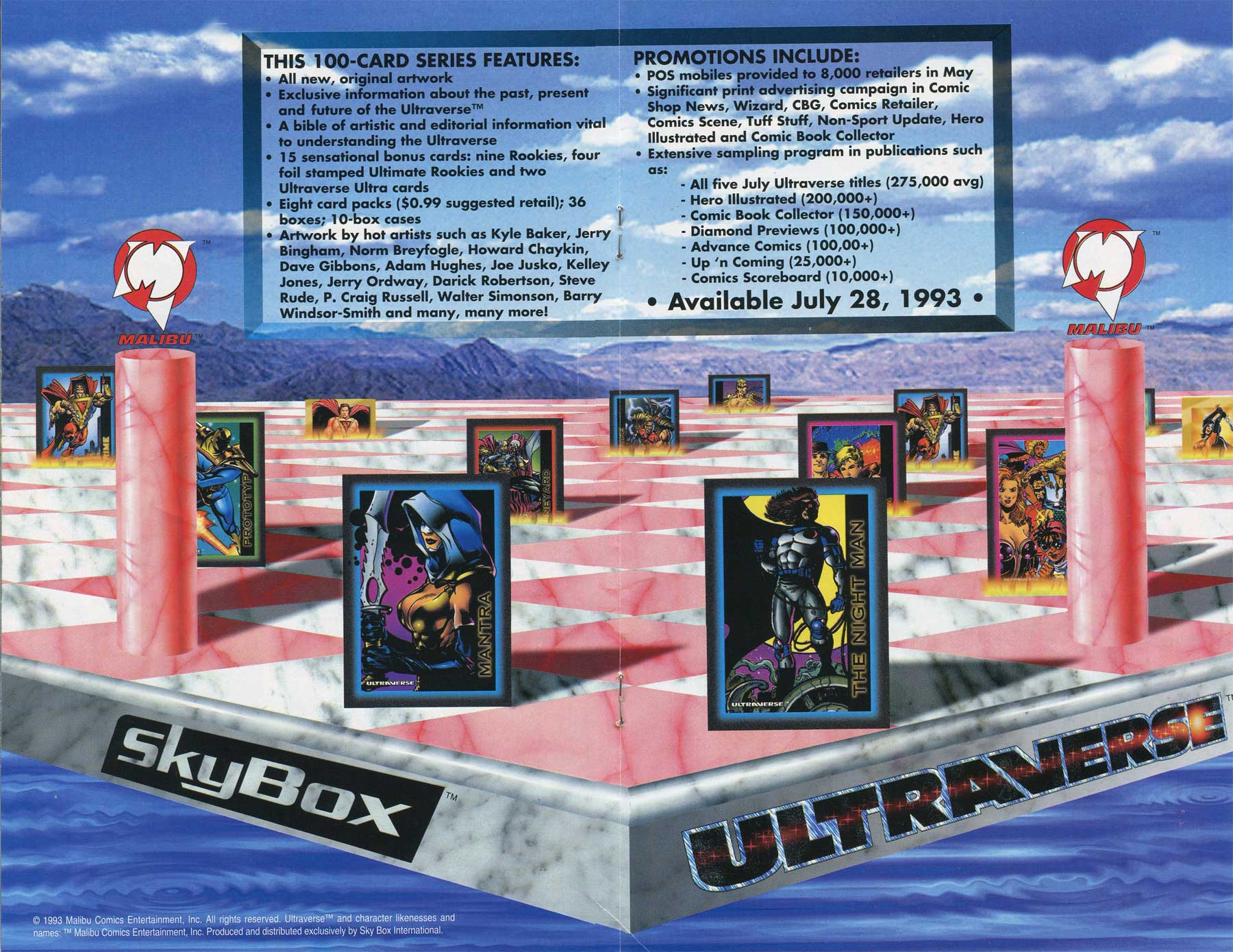 Ultraverse Preview Skybox Trading Cards