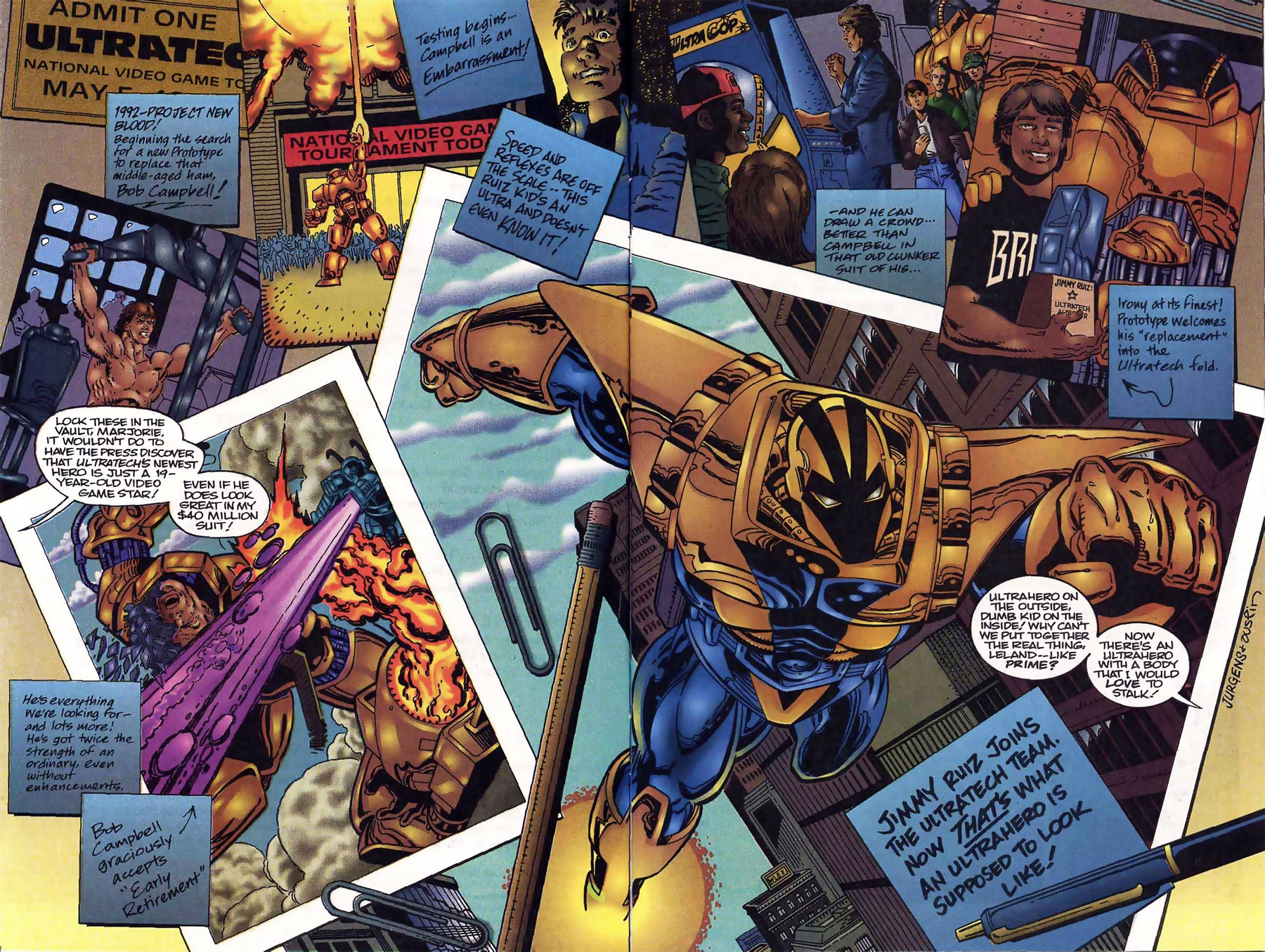 Prototype Ultraverse Origins by Dan Jurgens and Terry Austin