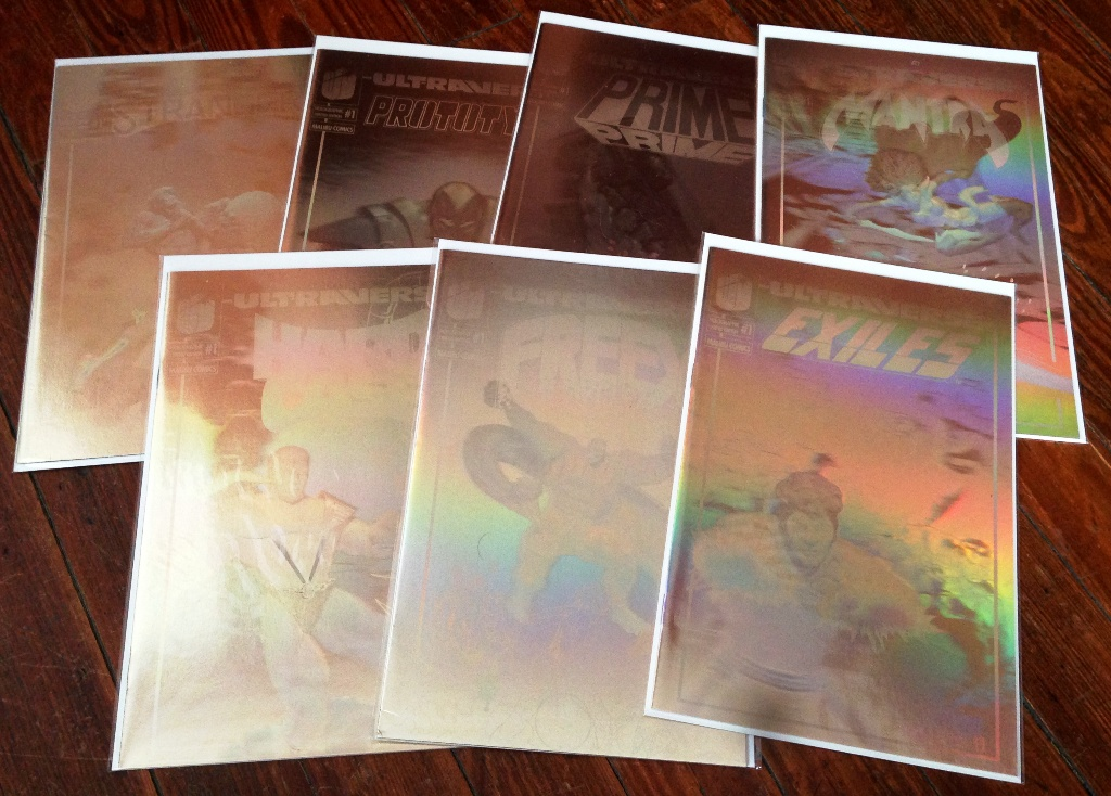 Ultraverse Gold Holographic Covers