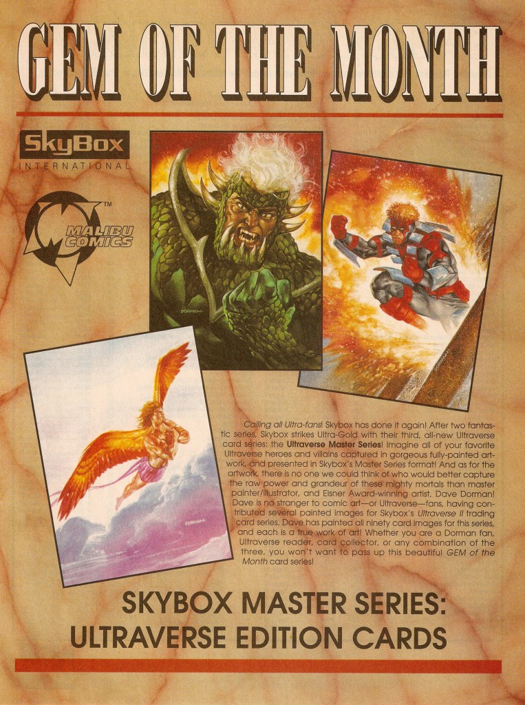 SkyBox Master Series: Ultraverse Edition Trading Cards advertisement Diamond Previews